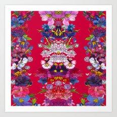 Full Bloom Red Art Print