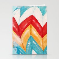 hot air balloons Stationery Cards featuring Hot Air Balloons #3 by Music of the Heart