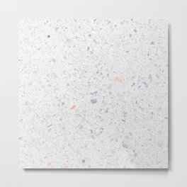 Natural Terrazzo Stone Stucture Pattern Pastel Metal Print
