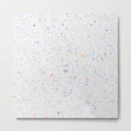 Natural Terrazzo Stone Stucture Pattern Pastel Metal Print