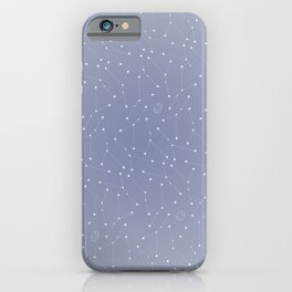 Cancer Constellation Pattern iPhone Case