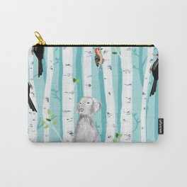 WEIMARANER AND WOODPECKERS Carry-All Pouch