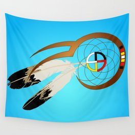 dreamcatcher blue Wall Tapestry