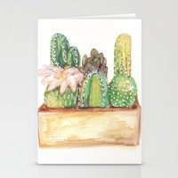 cacti Stationery Cards featuring Cacti by Diana Willard
