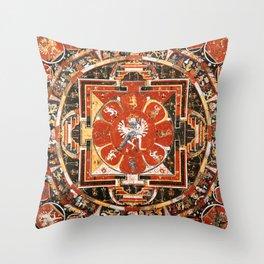 Mandala Of Hevajra Buddhist Deity Throw Pillow
