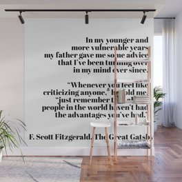 the great gatsby quote Wall Mural