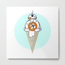 BB8 Ice Cream Metal Print