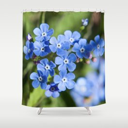 Forget Me Not Photography Print Shower Curtain