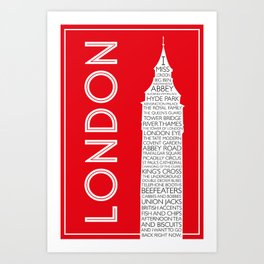 I Miss London Art Print
