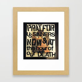 Holy Mary Framed Art Print