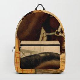 Vintage English Bulldog & Horse Illustration (1899) Backpack