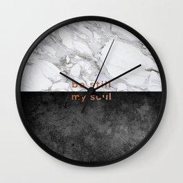 Be Still My Soul Copper Wall Clock