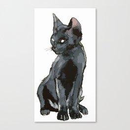 Black Vector Cat Canvas Print