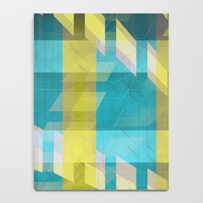 Abstract pattern blue and yellow Notebook