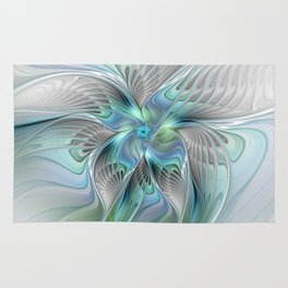 Abstract Butterfly, Fantasy Fractal Art Rug