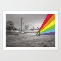 floyd Art Prints featuring Mr. Floyd by Blaž Rojs