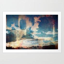 Spray Painting the Sunset Art Print