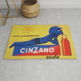 Vintage Cinzano Aperitif Amare Advertising Poster Rug