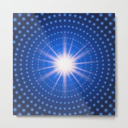 Technology tunnel with light at the end Metal Print