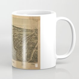 Aerial View of Conneaut, Ohio (1896) Coffee Mug