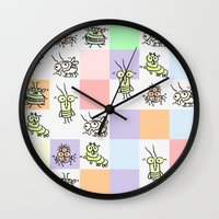 bugs Wall Clocks featuring Bugs by Scribblebro