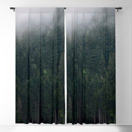 Mystic Pines - A Forest in the Fog Blackout Curtain