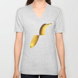 Tropical Fruit Banana Split Pop Art Geometrical Modern Retro Pastel Mexican Vegan Unisex V-Neck