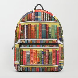 Christmas books antique vintage library Backpack