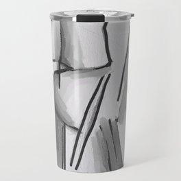 Black and white 3 Travel Mug