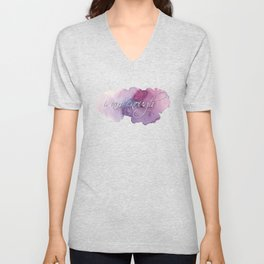 I am Enough - Purple and Blue Unisex V-Neck