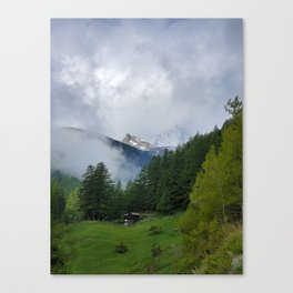 Alpine Forest with Matterhorn in the Distance Canvas Print