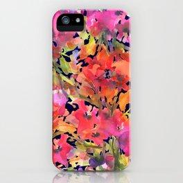 Midnight Magenta Garden iPhone Case