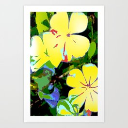 Yellow Plumbago Art Print