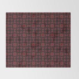 Cranberry Harvest pattered version 2 Throw Blanket