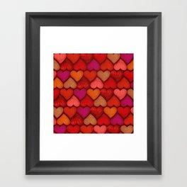 Love Pattern Framed Art Print