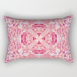 Boujee Boho Beauty Vintage Cross Print in Resonant Rose Rectangular Pillow