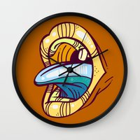mouth Wall Clocks featuring Mouth by Artistic Dyslexia