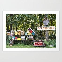 Birdhouses for Sale Art Print