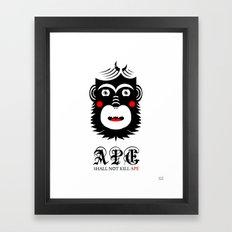 Ape Shall Not Kill Ape Framed Art Print