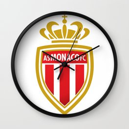 AS Monaco Logo Wall Clock