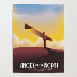 Angel of the North Travel poster. Poster