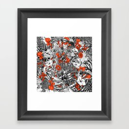 Sixth Mix Black Framed Art Print