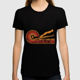 Retro Style Ski Jumper Vintage Ski Jumping T-shirt