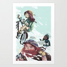 Bikes Not Bombs Art Print