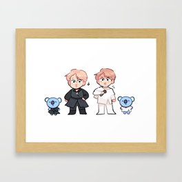 matching outfits with RM & koya! Framed Art Print