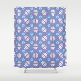 Shapes of Hackney - circles Shower Curtain
