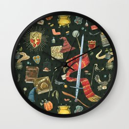 Gryffindor House Wall Clock