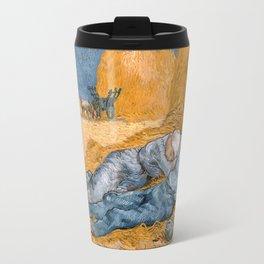Van Gogh - Noon, Rest from Work (after Millet) Travel Mug