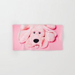 Pink Dog on Pink Background Hand & Bath Towel
