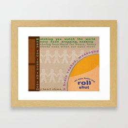 When You Leave the Room Framed Art Print